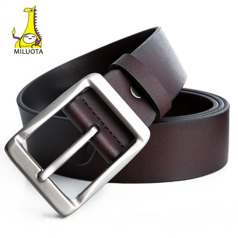 [Miyota] vaca cinturones de cuero genuino para hombres marca correa masculina ya cinto vintage jeans dropshipping Correa MU205