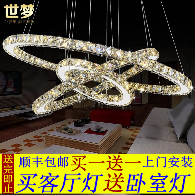pendant lamp living room lamps and lanterns restaurant lamp three head pendant lamp personality ring bedroom light a1 modern simple led crystal chandelier three head hanging lamps and lanterns lamps and lanterns artistic originality individual