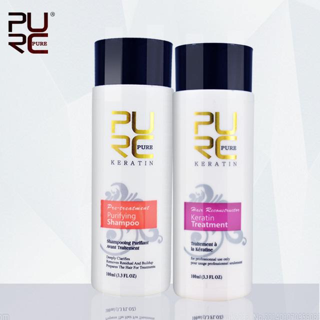 Chocolate brasileño de la queratina formalina tratamiento 5% plancha de pelo set para Brazlian cabello mascarilla envío gratuito uso en el hogar