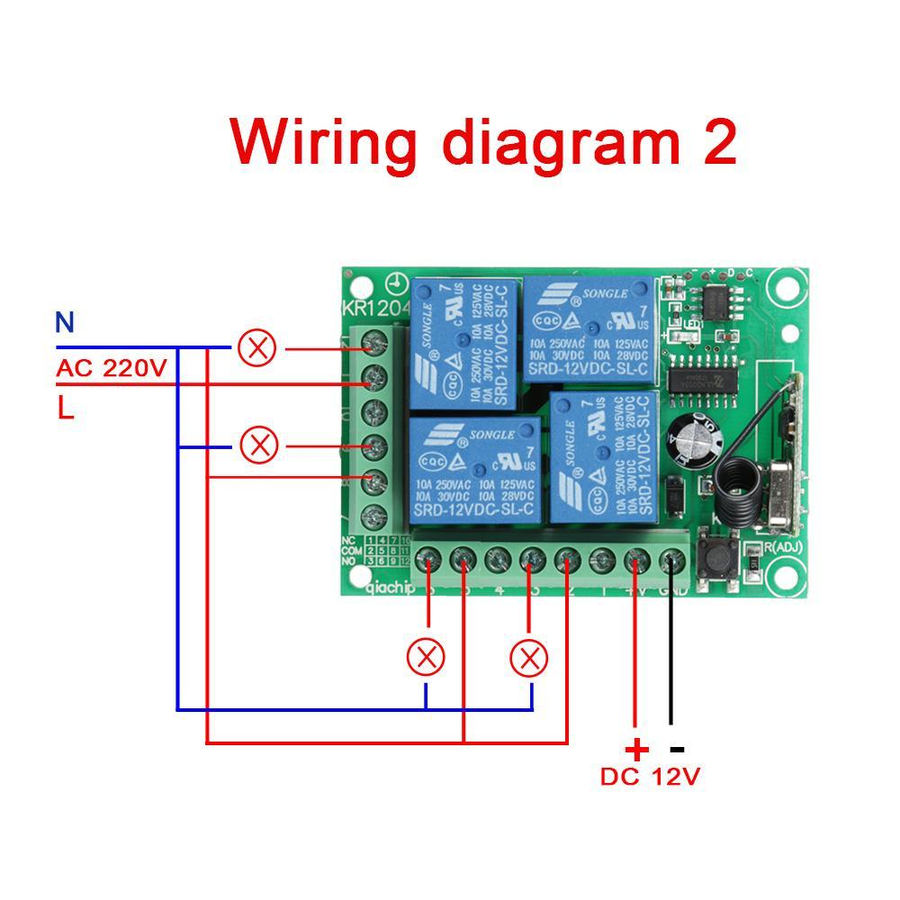 hight resolution of universal 433mhz rf 12v 4 channel remote control switch wireless remote control relay receiver momentary toggle switches s3 in switches from lights