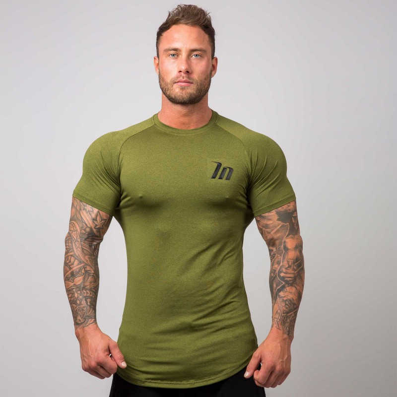 Men Compression Sports T-shirt Jogger Sporting Skinny Tee Shirt Male Gyms Fitness Bodybuilding Workout Tops Crossfits Clothing