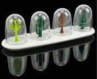 4 sztuk/zestaw Dzieci toy Cztery Sezony roślin zwierząt przyprawy Przyprawy Słoik Przyprawy Sól Pieprz Shaker butelka dostaw z kuchni