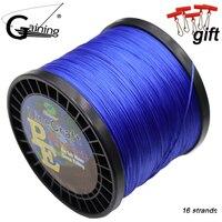 PE кос линия 16 пряди плетеная леска 1000 м Multi Цвет супер сильная Япония Multifilament Рыбалка Pe линии 308LB 94LB 59LB