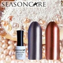 SEASONCARE UV LED Curing metal Pearl fragrance Nail Gel Long Lasting UV Nail Polish Manicure Top Base Coat Free Tip Guides Soak