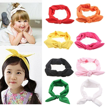 2016 Baby Girl Headband Rabbit Ear Toddler Headdress Child Student Hairband Elastic 8MUP