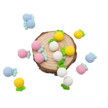 Chenkai 10PCS BPA Free Silicone Beads Baby Pineapple Teething For DIY Infant Soothing Teether Pacifier Clip Chain Accessories