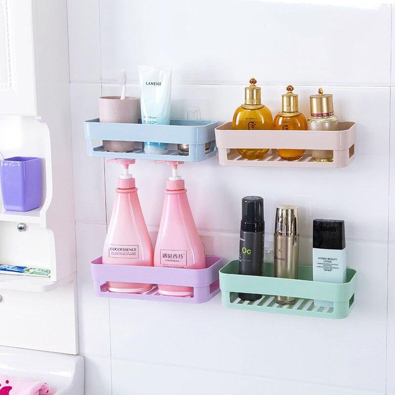 New Wall Stick Type Bathroom Kitchen Corner Storage Rack