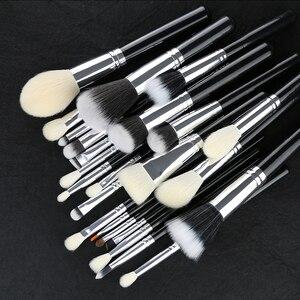 Image 3 - BEILI Black Professional NO Logo Goat hair brush Powder Foundation Contour Concealer  Eyes Blending 25 pcs Makeup Brush set