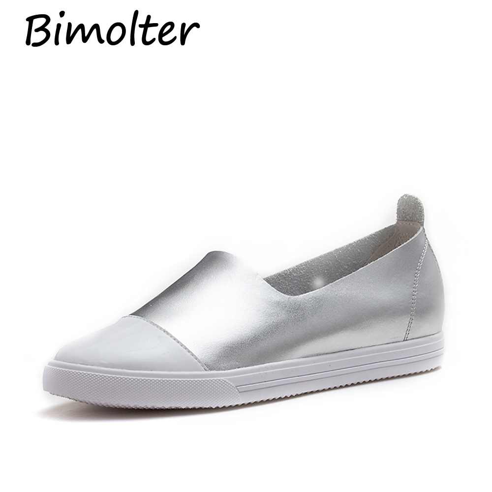 Bimolter Simple Styles Fashion Casual Loafers Super Soft Asli Sepatu - Sepatu Wanita - Foto 2