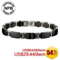 NOPROBLEM Titanium Ion Balance Power Fashion Sports Magnets Therapy Bracelet