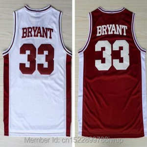 ce0e28283ad Throwback 2 Color Basketball Jersey Kobe Bryant Jerseys High School Lower  Merion