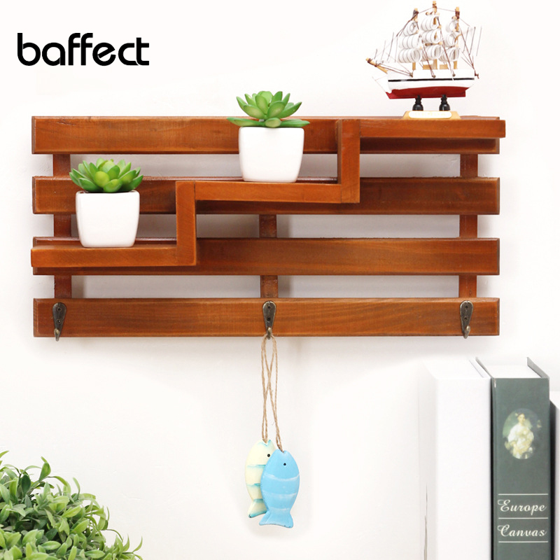 Aliexpress Com Buy Wooden Iron Wall Shelf Wall Mounted Storage