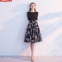 DongCMY New Arrival Little Black Star Color 2019 Cocktail Dresses Plus size Short Party Women dress