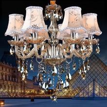 Moderne lustre lustres de cristal K9 moderna Iluminación de la Lámpara de iluminación para el hogar Dormitorio Cocina Comedor lámpara de araña de Cristal