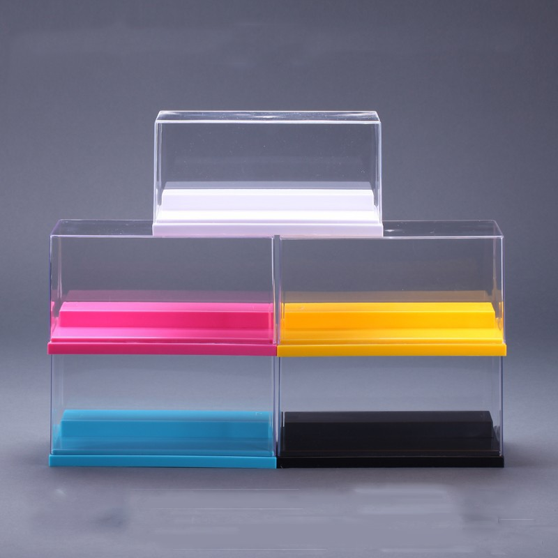 5 Colors Dustproof Protection Showcase Clear UV Acrylic Plastic Display Box Case Building The Action Figures Doll Toys House plastic original building blocks minifigures show cases ladder collection parts box acrylic display case for action figures p150