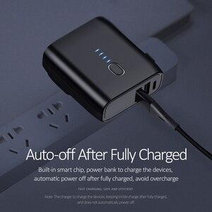 Image 3 - EU/US 접이식 플러그 2 in 1 USB 충전기 전원 은행 5000mah 자동 전원 끄기 빠른 충전 Powerbank 듀얼 USB 외부 배터리
