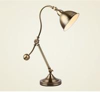1 Pcs Vintage Gold Desk Lamps Bedside Lamp Study Office Desk Light Library Reading Lamp Abajur Industrial Adjustable Table Lamps