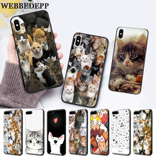 WEBBEDEPP Cat Cute Mouse Pig Cats Silicone soft Case for iPhone 5 SE 5S 6 6S Plus 7 8 11 Pro X XS Max XR