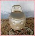 Champanhe curativo & make up fezes fezes sofá de ouro da arte do império otomano PU sofá de couro de perfuração venda quente
