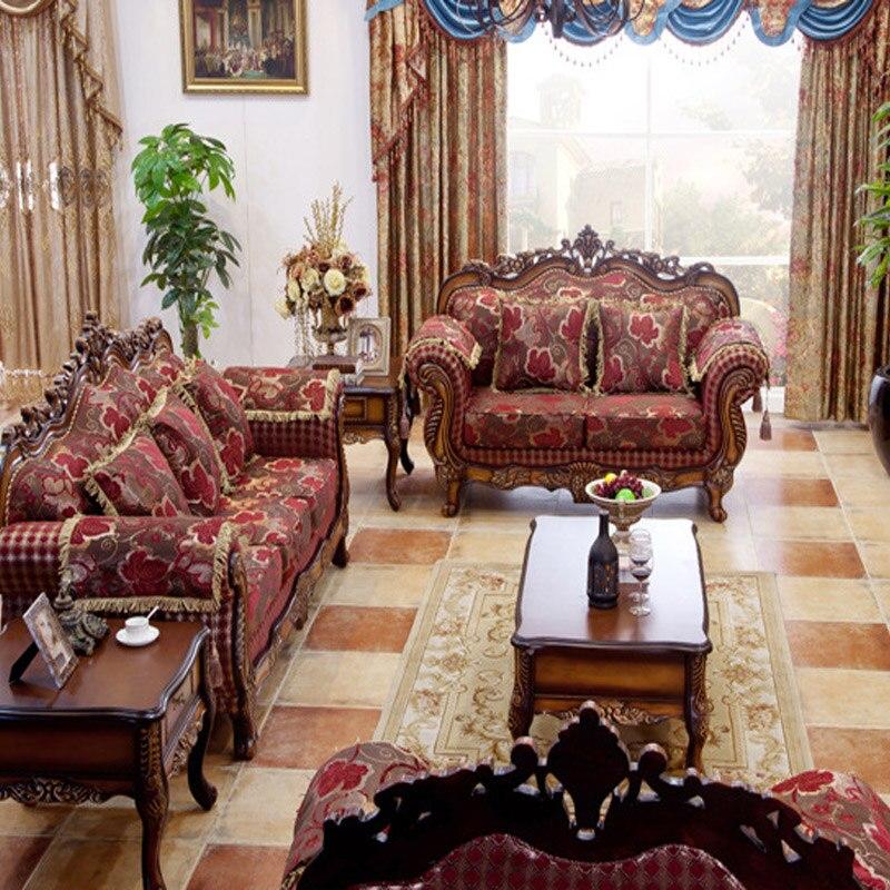american furniture sofas living room European American Wood carving Sofa combination living