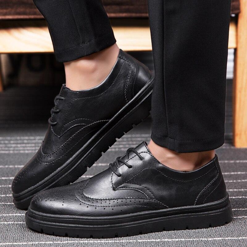 Black Dos Da Boi Lace Homem Respirável 44 Negócios Homens De up Brogue Carve Moda Design Zapatos Italiano Sapatos brown Tamanho 39 Casamento x8qw7f6RC