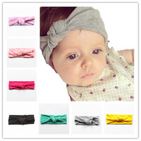 6pcs/lot Headband Baby Head Wrap Children Tie Knot Head Band Knitted Cotton Elastic Girls Hair Band Toddler Turban Headband