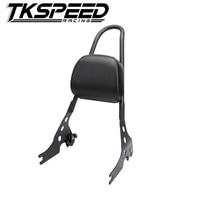 Motorcycle Luggage Rack Sissy Bar Rear Passenger Seat Backrest Cushion Pad For 2015 2016 Harley Street