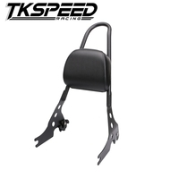 Motorcycle Luggage Rack Sissy Bar Rear Passenger Seat Backrest Cushion Pad For 2015 2016 Harley Street