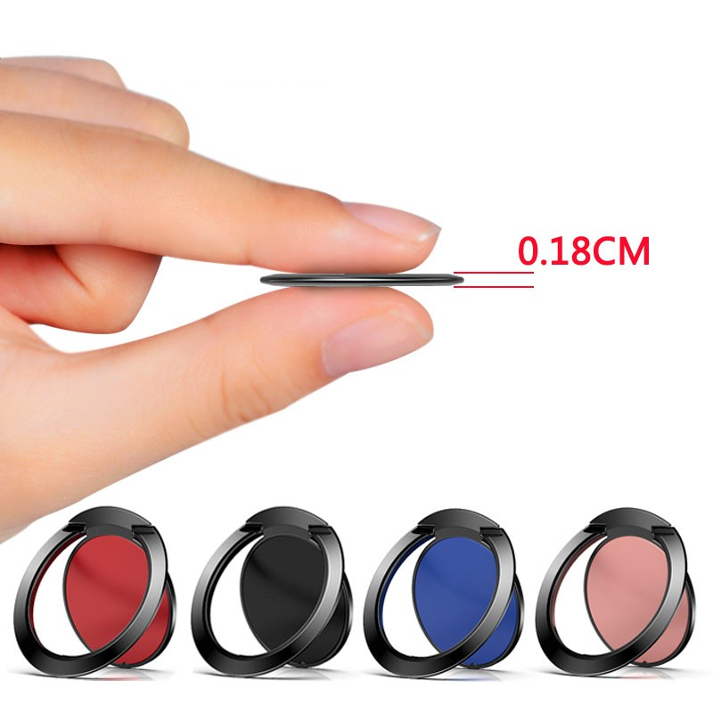 Ultra Thin Finger Ring Holder For IPhone X 8 7 Plus 6s XS XR Mount Holder Stand Mobile Phone Finger Tablet For Xiaomi Samsung S9