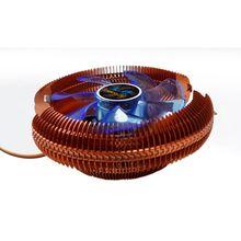 DC12V 3-контактный бесшумный охлаждающий вентилятор Процессор Cooler теплоотвод для Intel/AMD Поддержка Процессор с светодиодный