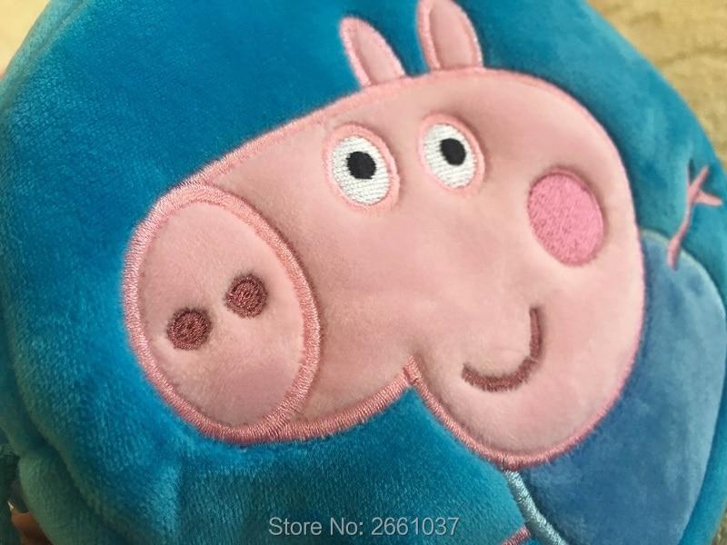 1pcs-16CM-Genuine-plush-pig-bag-Pink-Peppa-Pig-George-Backpack-high-quality-hot-sale-Animal-satchel-For-Childrens-haversack-3