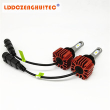 LDDCZENGHUITEC H4 H7 H13 H11 H1 9005 9006 CSP 40W 4000LM All In One Car LED Headlights Auto Head Lamp Fog Light Automotive B