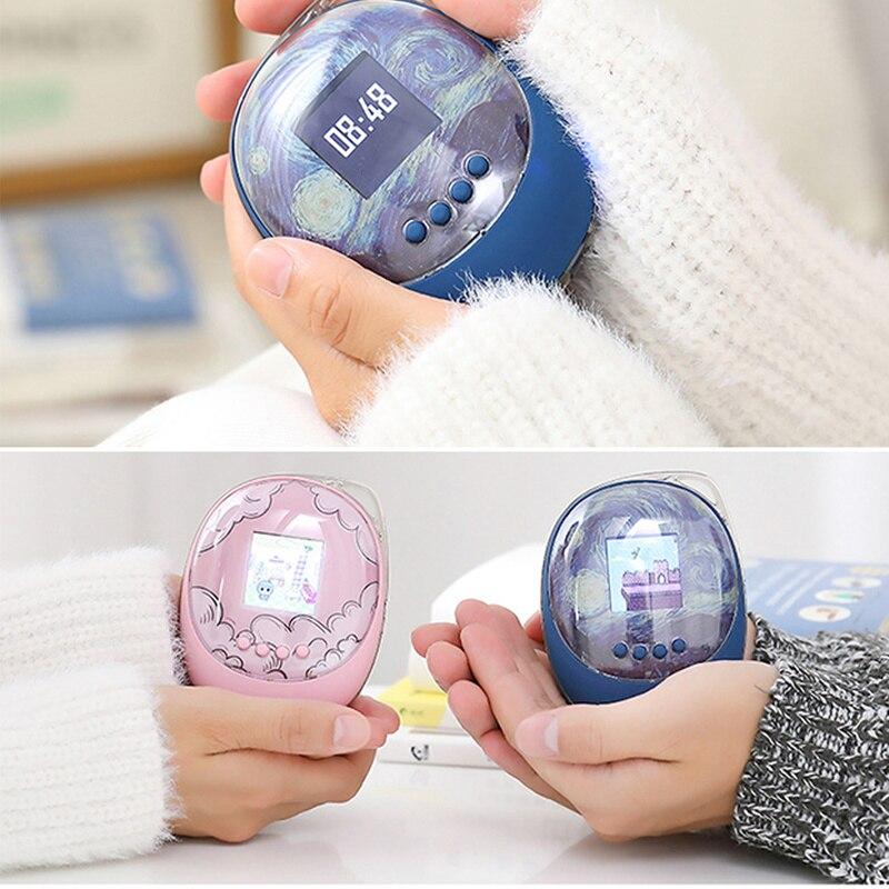 De silicona, carga USB, potencia móvil, gran capacidad, calentadores de manos, huevo creativo, cálido, mano, tesoro de carga, recargable