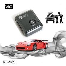 RF-V8S Free Shipping Anti-lost Alarm Mini Car GPS Tracker Motorcycle Tracking Device SOS Function Tracking Via APP&SMS