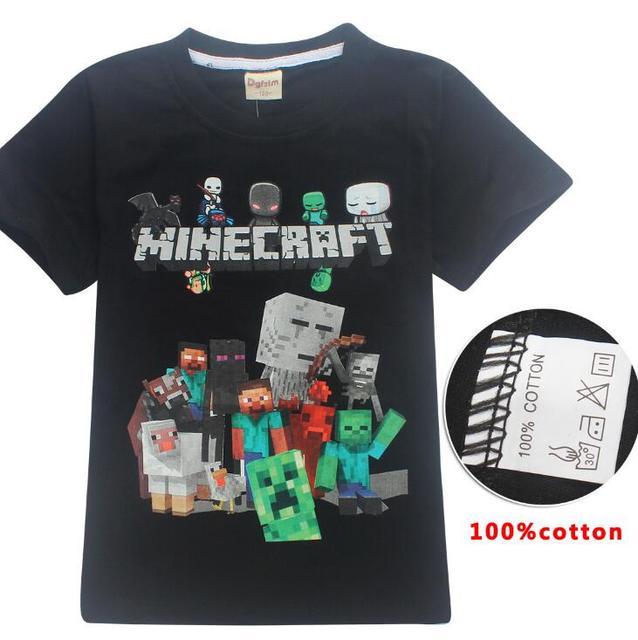 Venda quente Novo 2019 Minecraft T Meu Mundo Populares Dos Desenhos Animados Camisetas de Algodão de Manga Curta Meninos Meninas Top Crianças Traje roupas