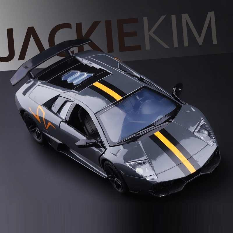 High Simulation Exquisite Collection Baby Toys: RMZ city Car Styling LP670-4 SV Sportcar 1:36 Alloy Supercar Model Pull Back Car