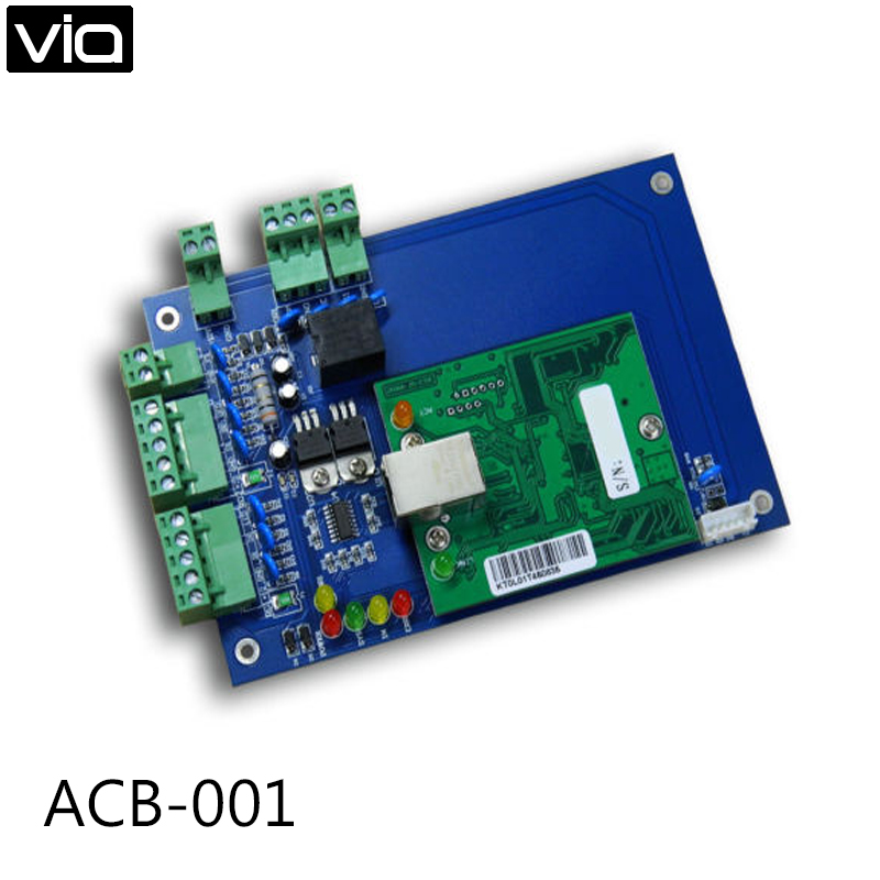 ACB-001 Free Shipping Single Door Access Control Board via TCP/IP Web Based 2000 Users Wiegand Controller Highest Quality free shipping web controller single door two way access control panel with tcp ip