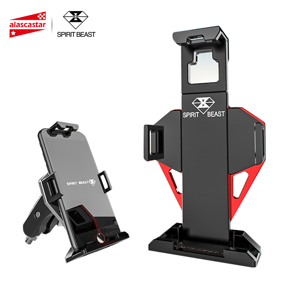 SPIRIT BEAST Motorcycle Mobile Phone Holder For Motorcycle Moto Bracket Stand Motorbike Support Holder For 4.5-6 Inch Phone цена 2017