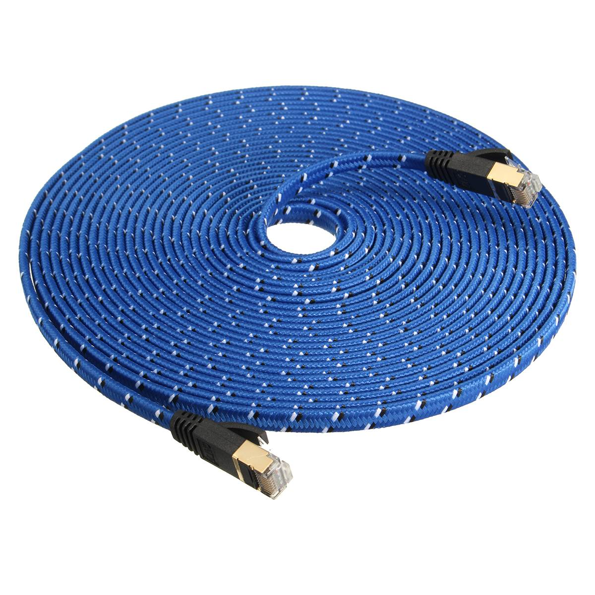 CAT 7 1.0M-10M Cable STP Flat Gigabit Ethernet Network Cable RJ45 Patch LAN Cord for PC Laptop Super High Speed
