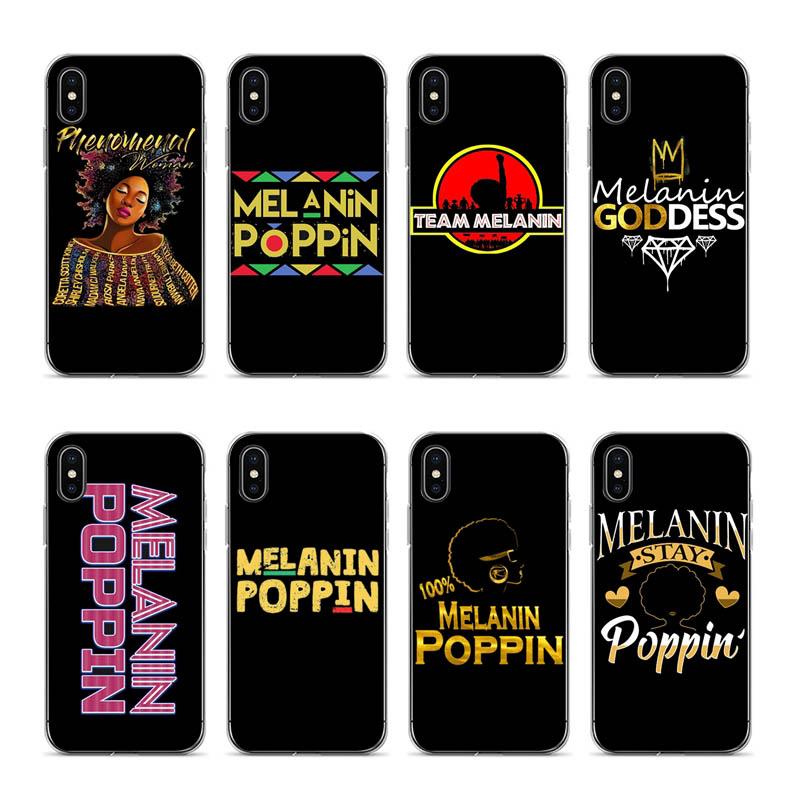 Baby & Toddler Clothing Supply Outmix 2bunz Melanin Poppin Aba Phone Case Soft Silicone Covers Cases For Iphone 8 7 6 6s Plus X 5 5s Se 5c Cover Good For Antipyretic And Throat Soother