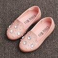 2017 nova cristal meninas shoes deslizar sobre crianças meninas mocassins strass fantasia crianças casual shoes flats das childen sapatps ninas
