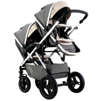 VIKI High landscape double seat,twins baby stroller,2 in 1kinderwagen,seat reversable pushchair/pram,baby carriage