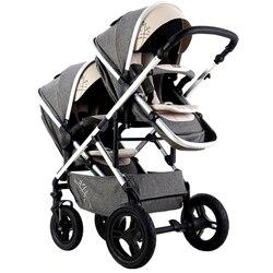 VIKI asiento doble de paisaje alto, cochecito de bebé doble, 2 en 1, silla de paseo/cochecito reversible, cochecito de bebé