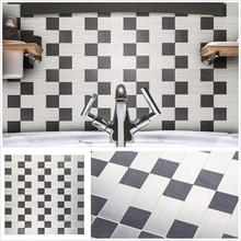 4 Sheets Silver and Black Self adhesive Wall Sticker 12 Inch Oilproof Nordic Subway Peel Stick Mosaic for Kitchen Backsplash