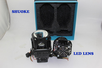 New Promotion SHUOKE Highest Quality LED Double Projector Lens High/Low Beam LED Double 3.0 Inch Lens