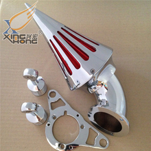 Aftermarket free shipping  Air Cleaner filter for Harley Davidson Softail Fat Boy Dyna Street Bob Wide Glide Chrome