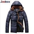 Joobox 2017 homens casaco de inverno, ocasional quente para baixo Parkas, Marca Espessamento de Algodão-Acolchoado Jaqueta, casaco de inverno com capuz homens (PW609)