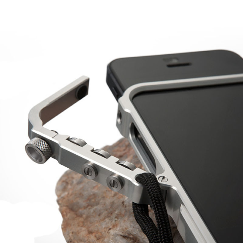 Déclencher butoir en métal pour l'iphone 6 6 S Plus M2 4e prime de la conception Aviation butoir En Aluminium cas de téléphone tactique édition