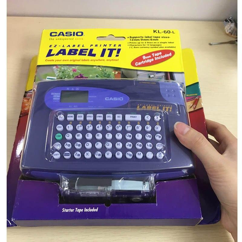 Original Label printing machine KL-60 Portable English label machine Can print 6/9 / 12mm label 14 language title=