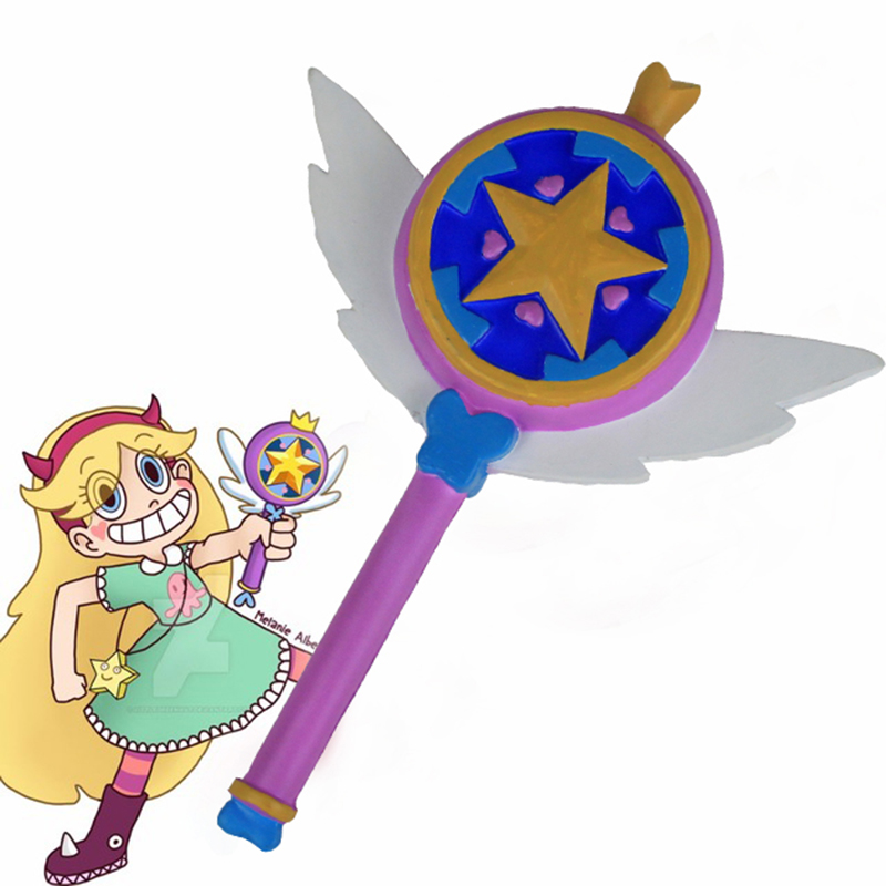 Star vs. the Forces of Evil Princess Magic Stick Wand Staves Cosplay Princess Star Butterfly Accessorie Props Fans Gift